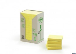 Bloczki 3M POST-IT 653-1T 38x51mm żółte 24bloczki po 100k FT510110388